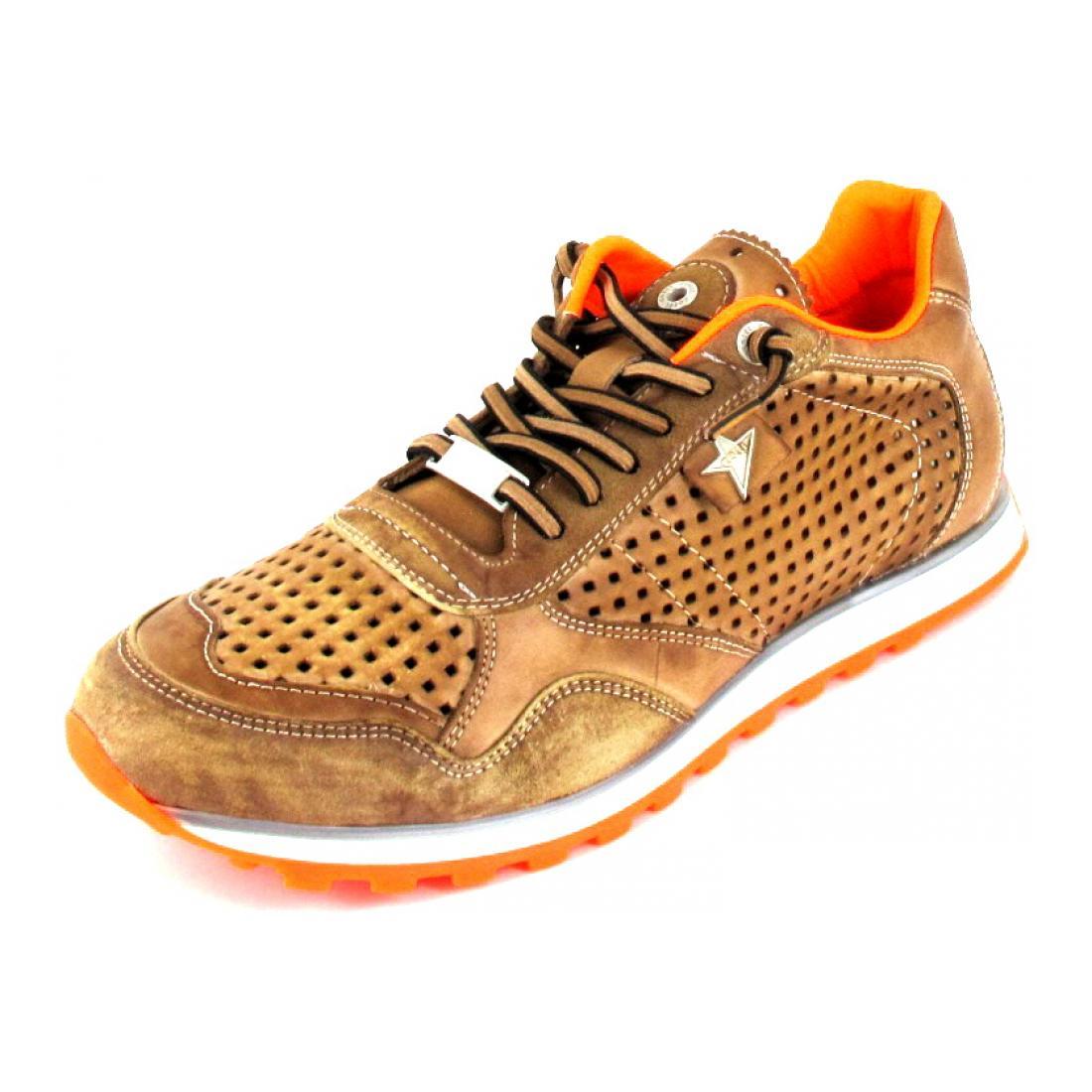 Cetti Sneaker nature tin cuero-orange