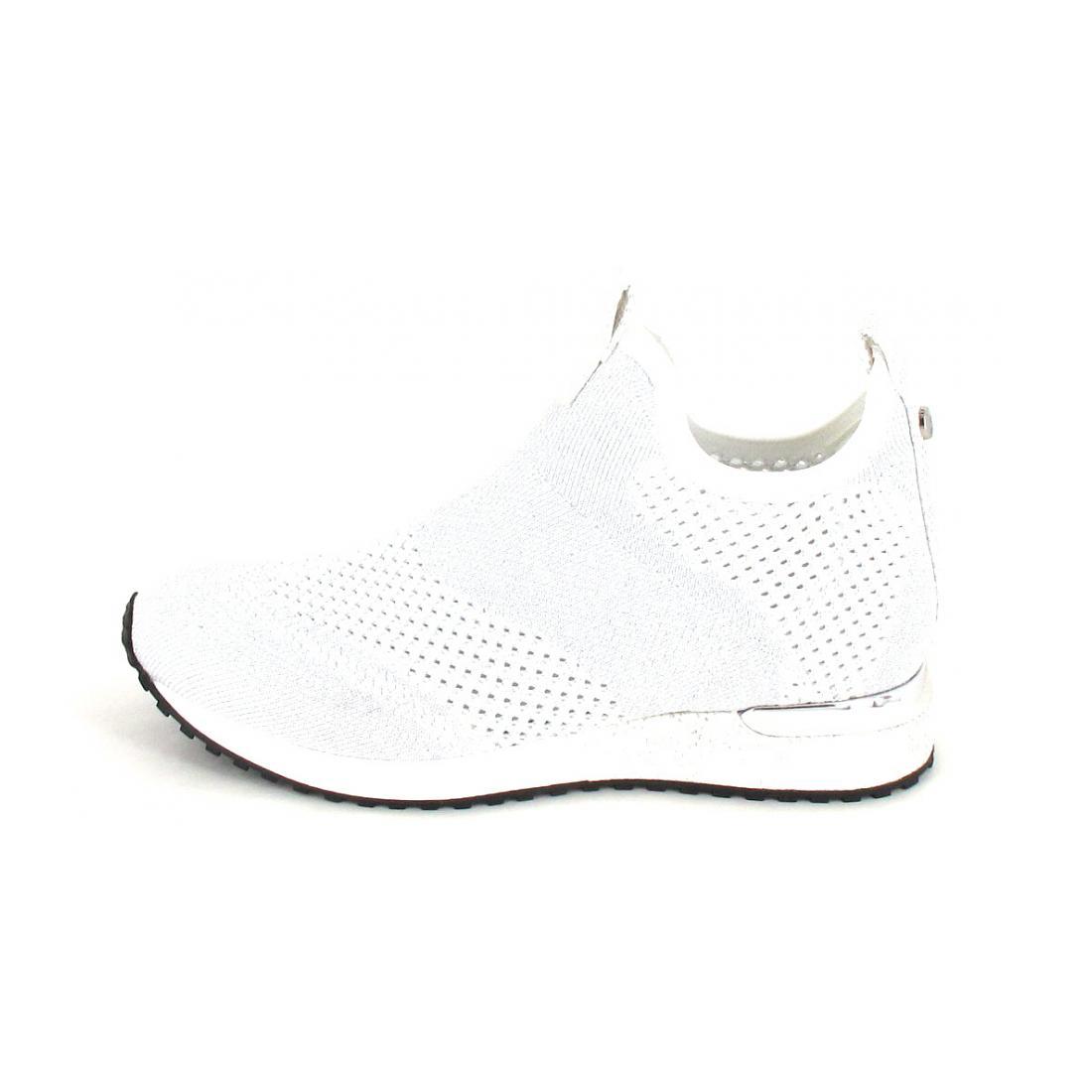 La Strada Sneaker Knitted White-Silver