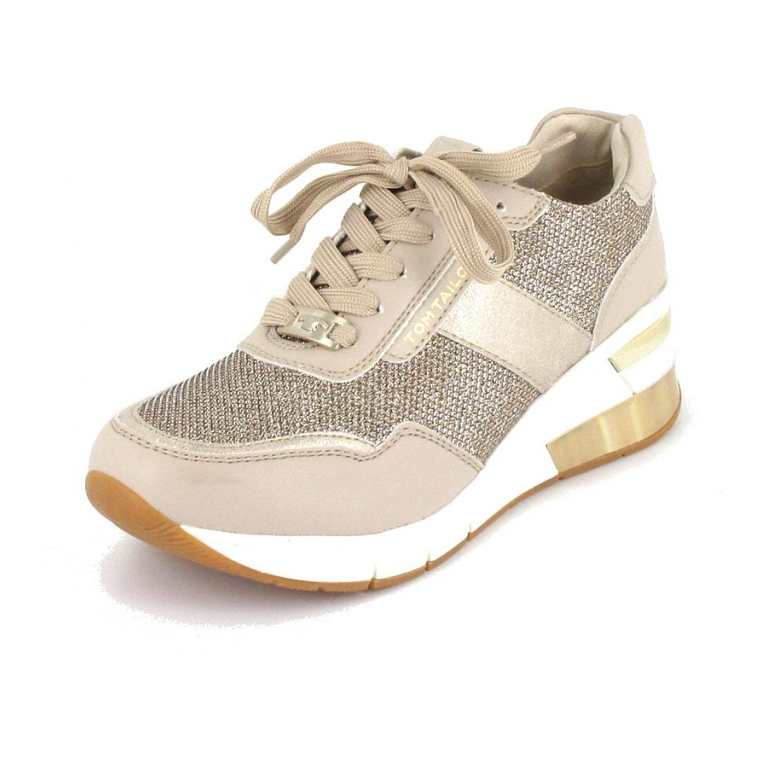 Tom Tailor Sneaker beige-gold