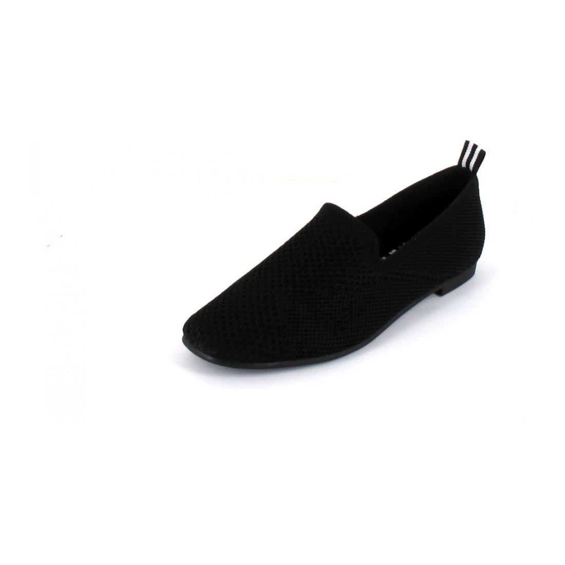 La Strada Slipper Black Knitted