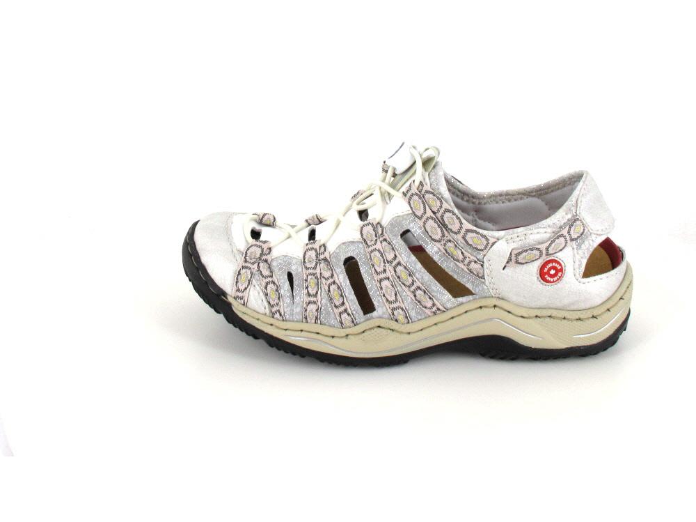 Rieker Leandra L05 white silver | Schuh Welt Wo