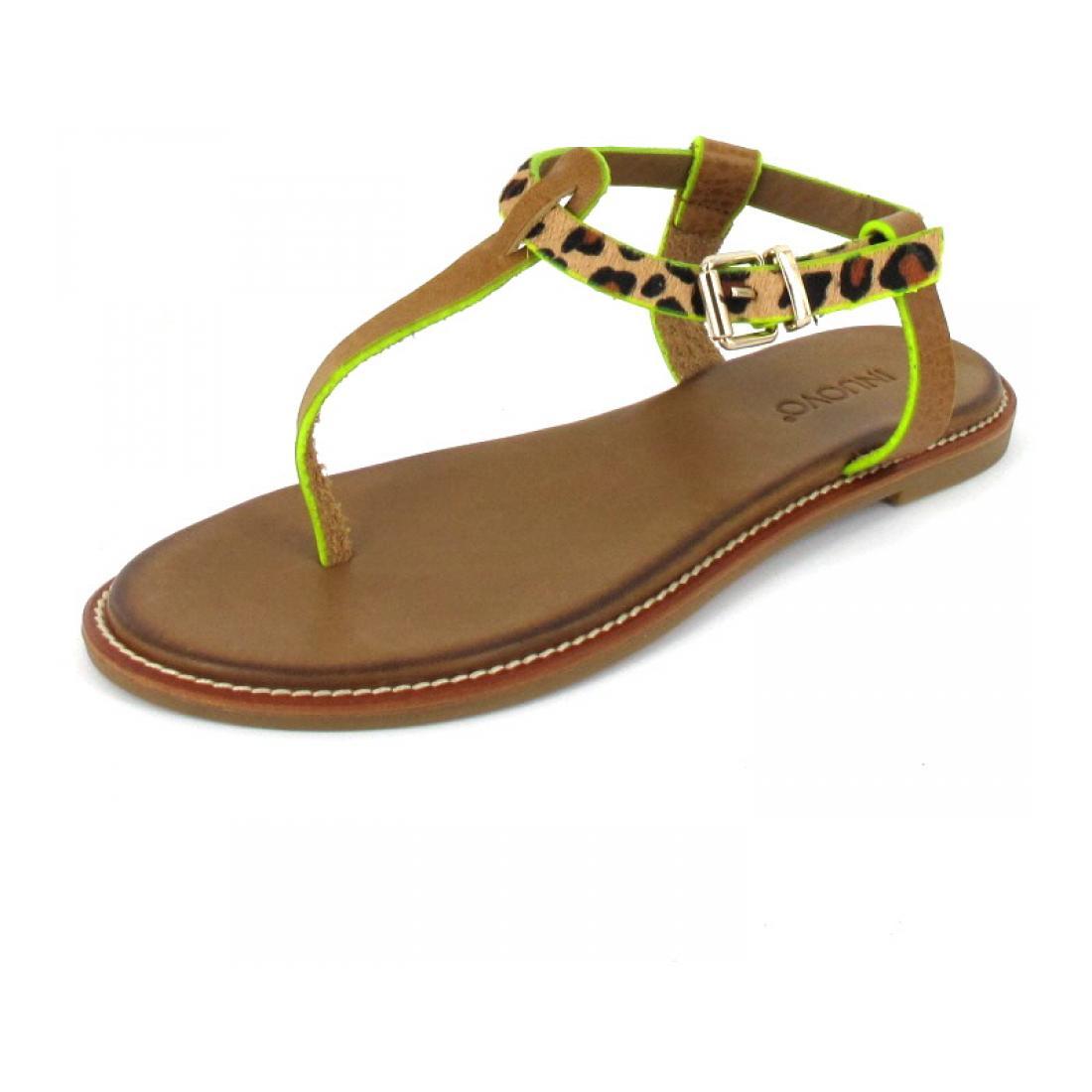 Inuovo Sandalette Sandals Camel-Leo- Neon Y