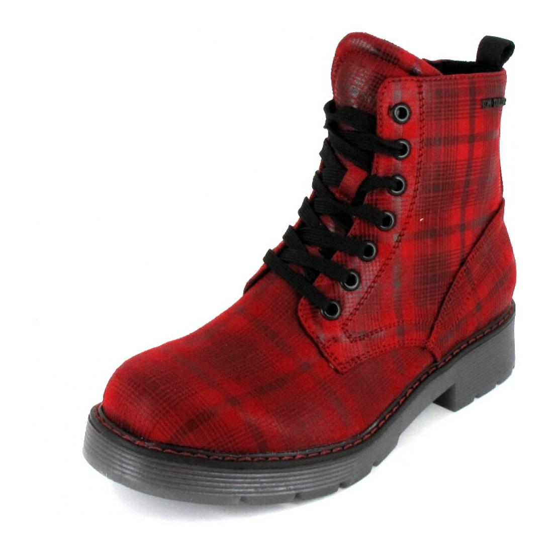 Tom Tailor Boots red