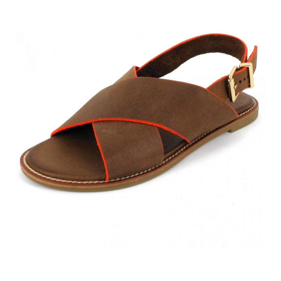 Inuovo Sandale Sandals Tan-Neon Orange