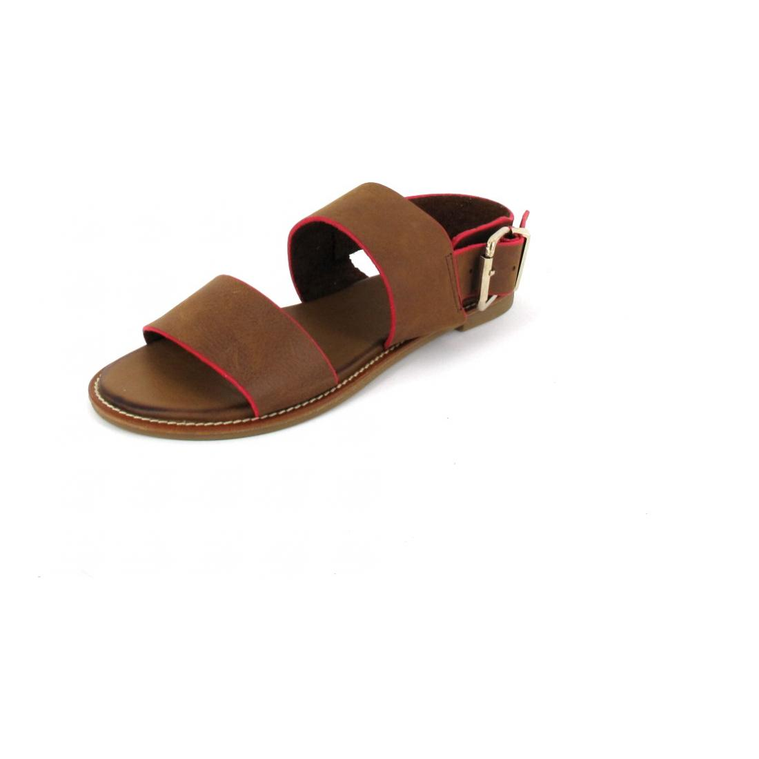 Inuovo Sandalette Sandals Tan-Neon Pink