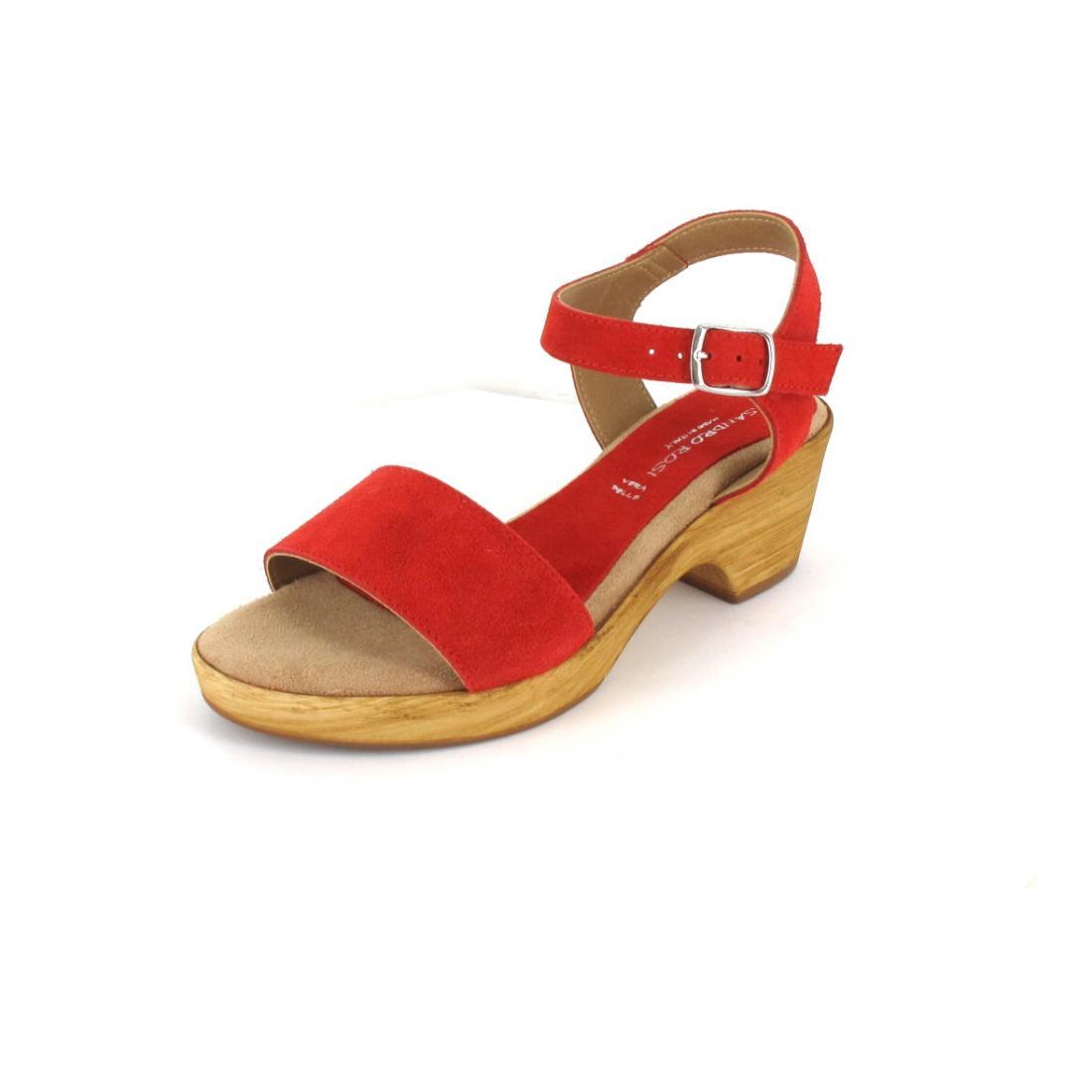 Sandy Shoes Sandale crosta scamosciata rossa