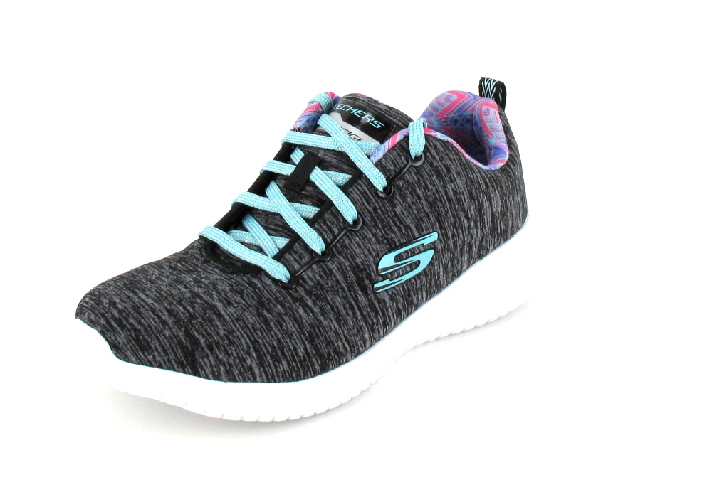 Skechers  ULTRA FLEX BLACK/AQUA