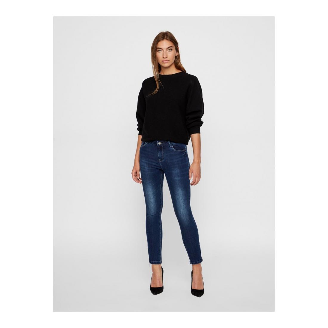 Noisy May Jeans Damen NMKIMMY NW ANKLE ZIP JEAN