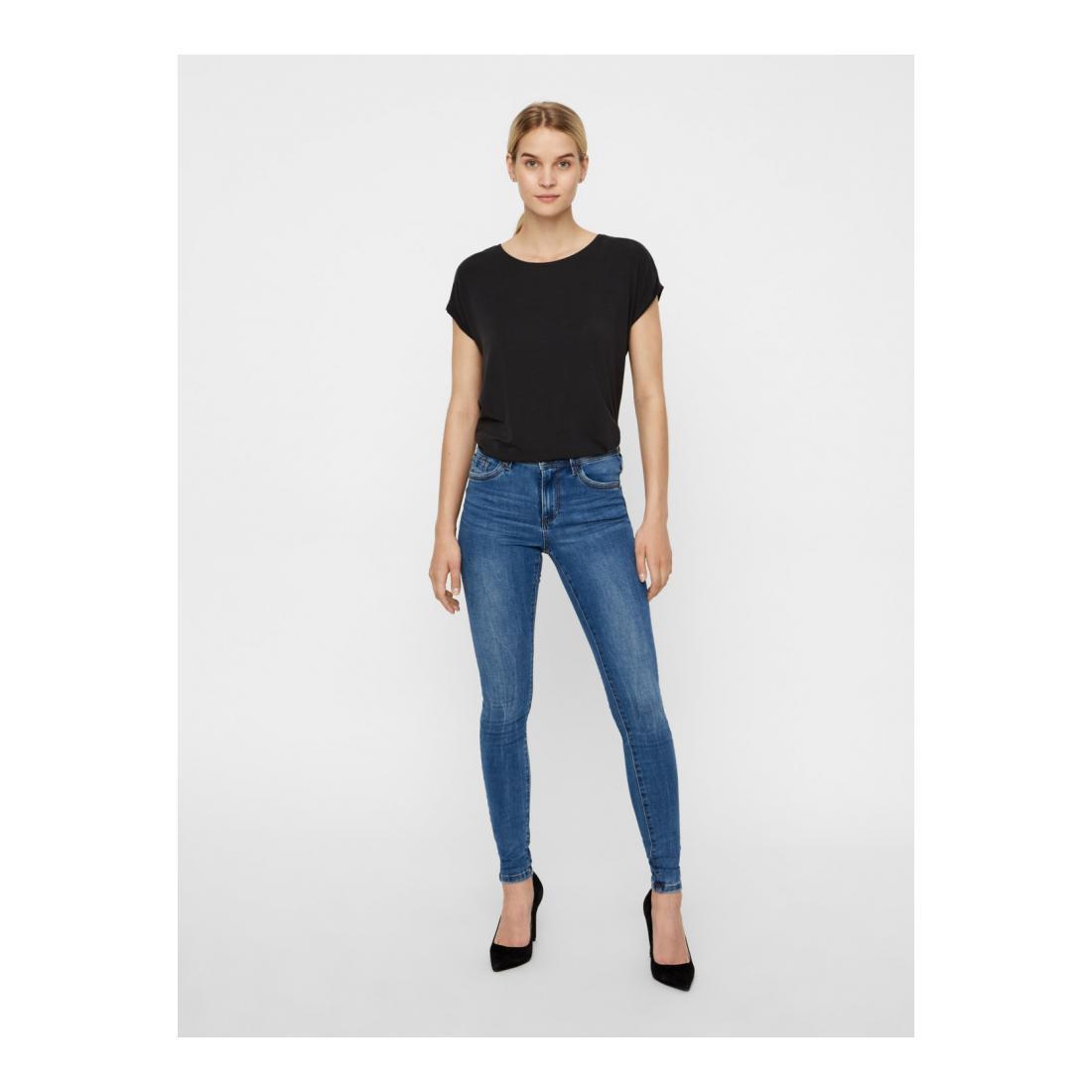 Vero Moda Jeans Damen VMTANYA MR S PIPING JEANS
