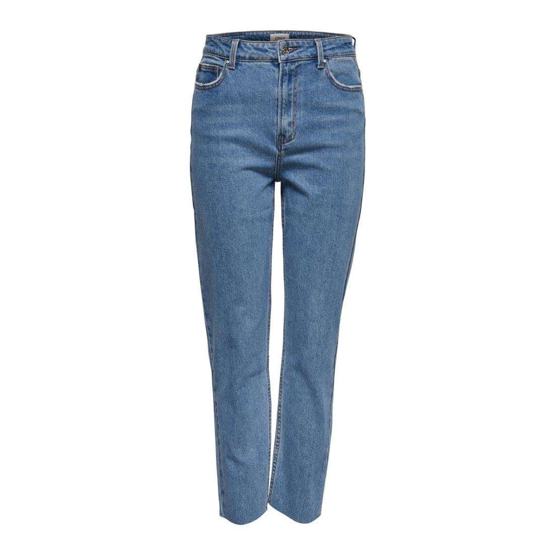 Only Jeans Damen ONLEMILY HW ST RAW CROP A