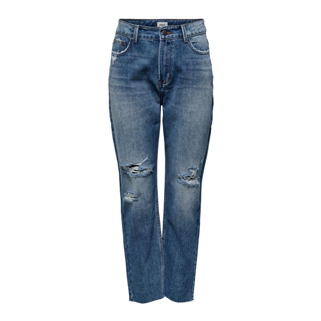Only Jeans Damen ONLEMILY LIFE HW ST CRP A