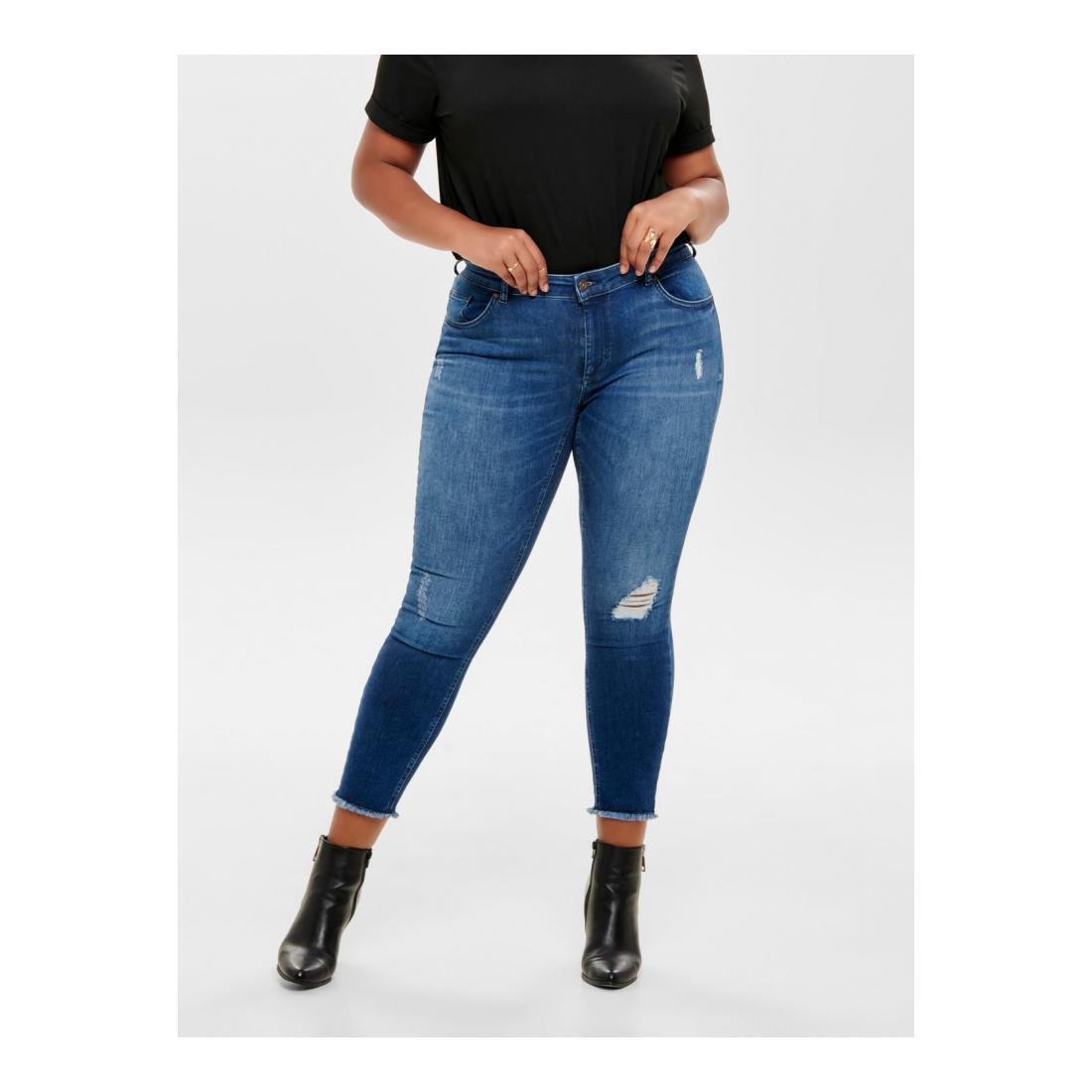 Only Carmakoma Jeans Damen CARWILLY REG SKINNY ANK J