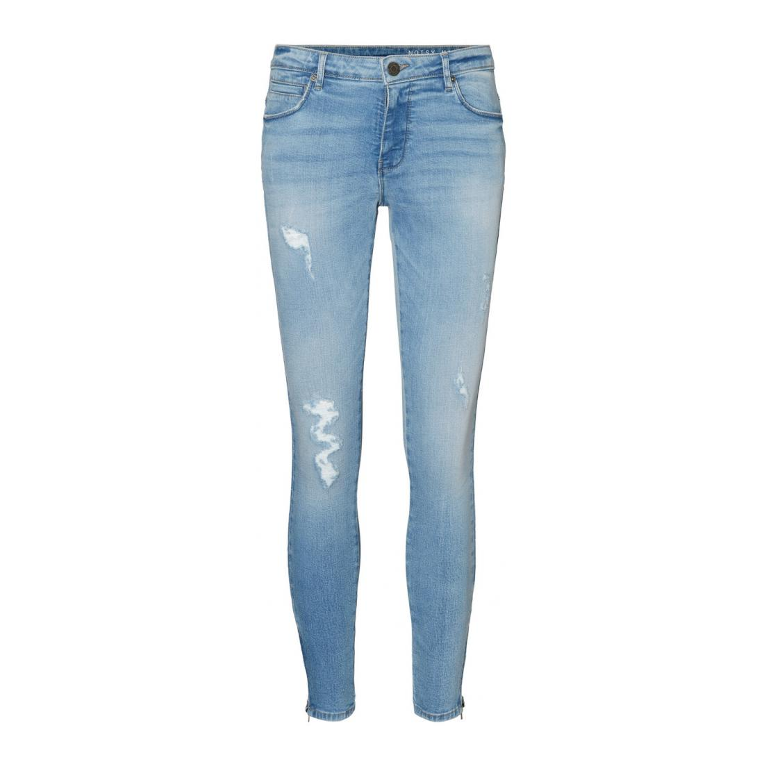 Noisy May Jeans Damen NMKIMMY NW ANK ZIP JEANS