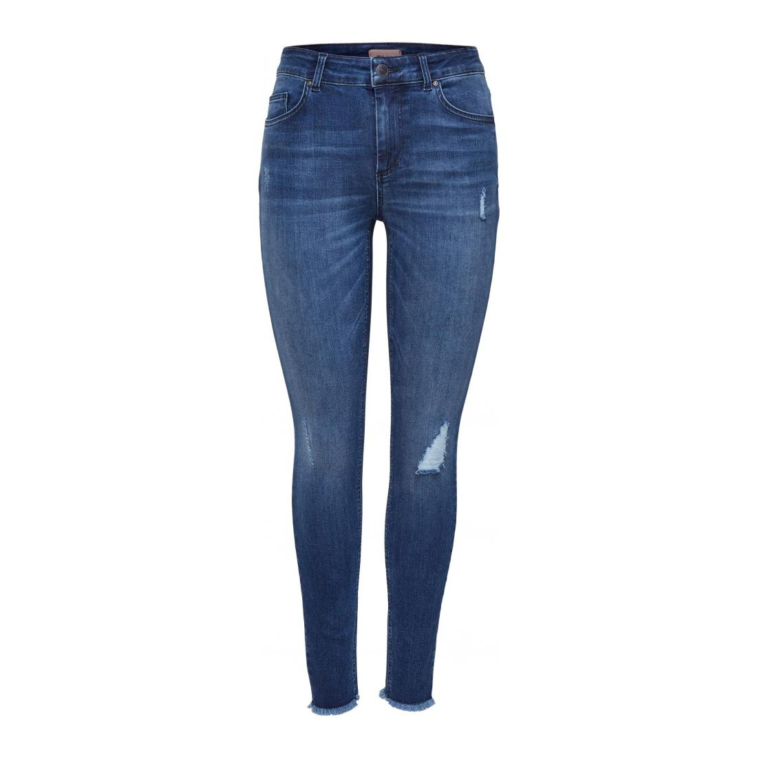 Only Jeans Damen ONLBLUSH LIFE MID ANK RAW