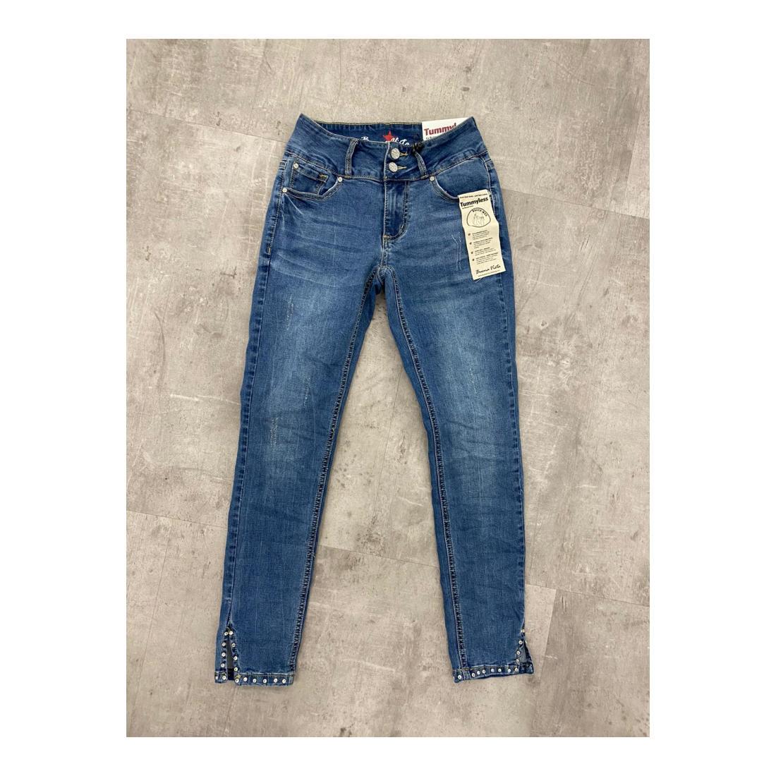 Buena Vista Jeans Damen Tummyless 7/8 stretch den