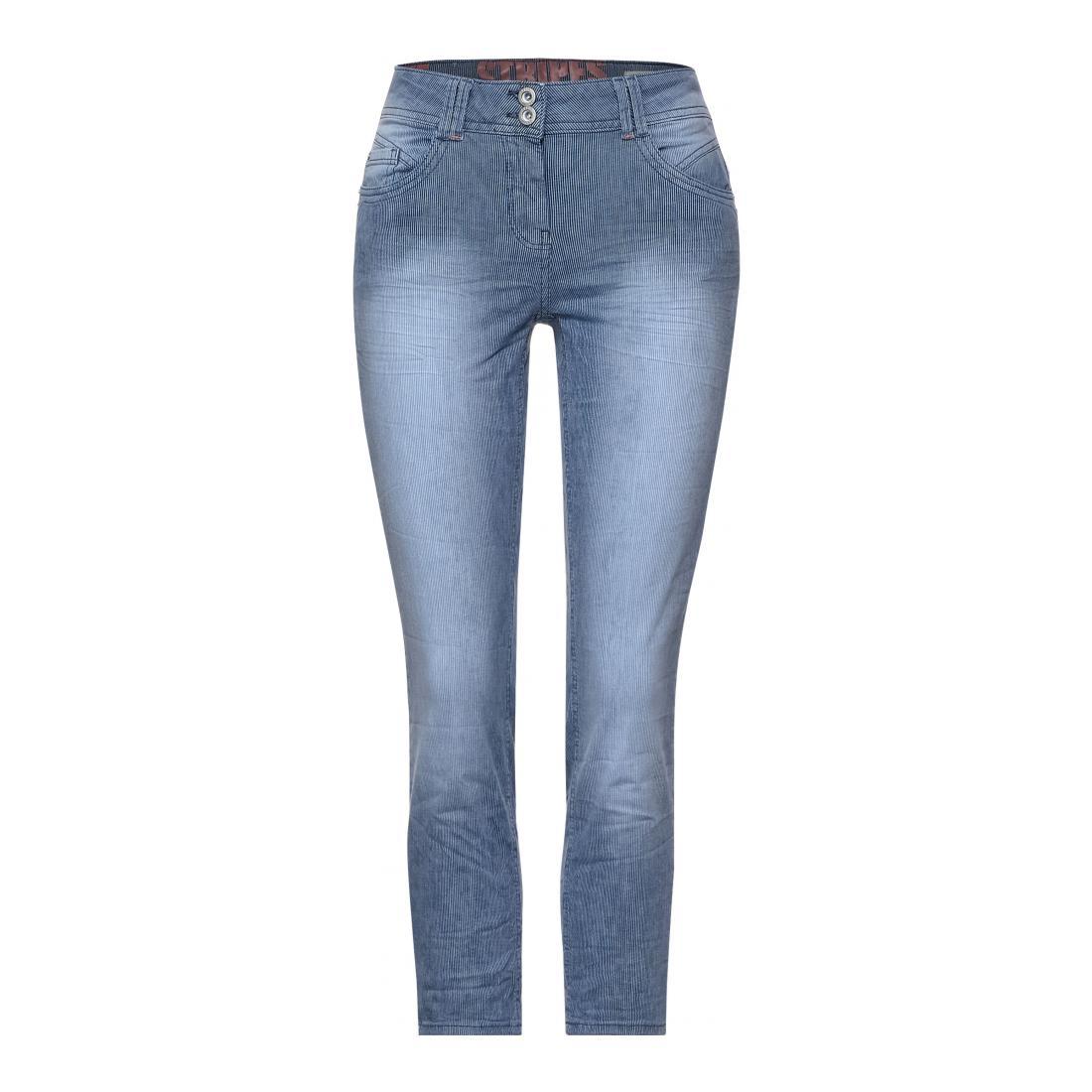 Cecil Jeans Damen Style TOS Scarlett Stripe