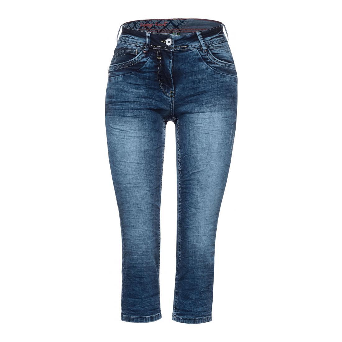 Cecil Jeans Damen Style NOS Scarlett Mid Bl