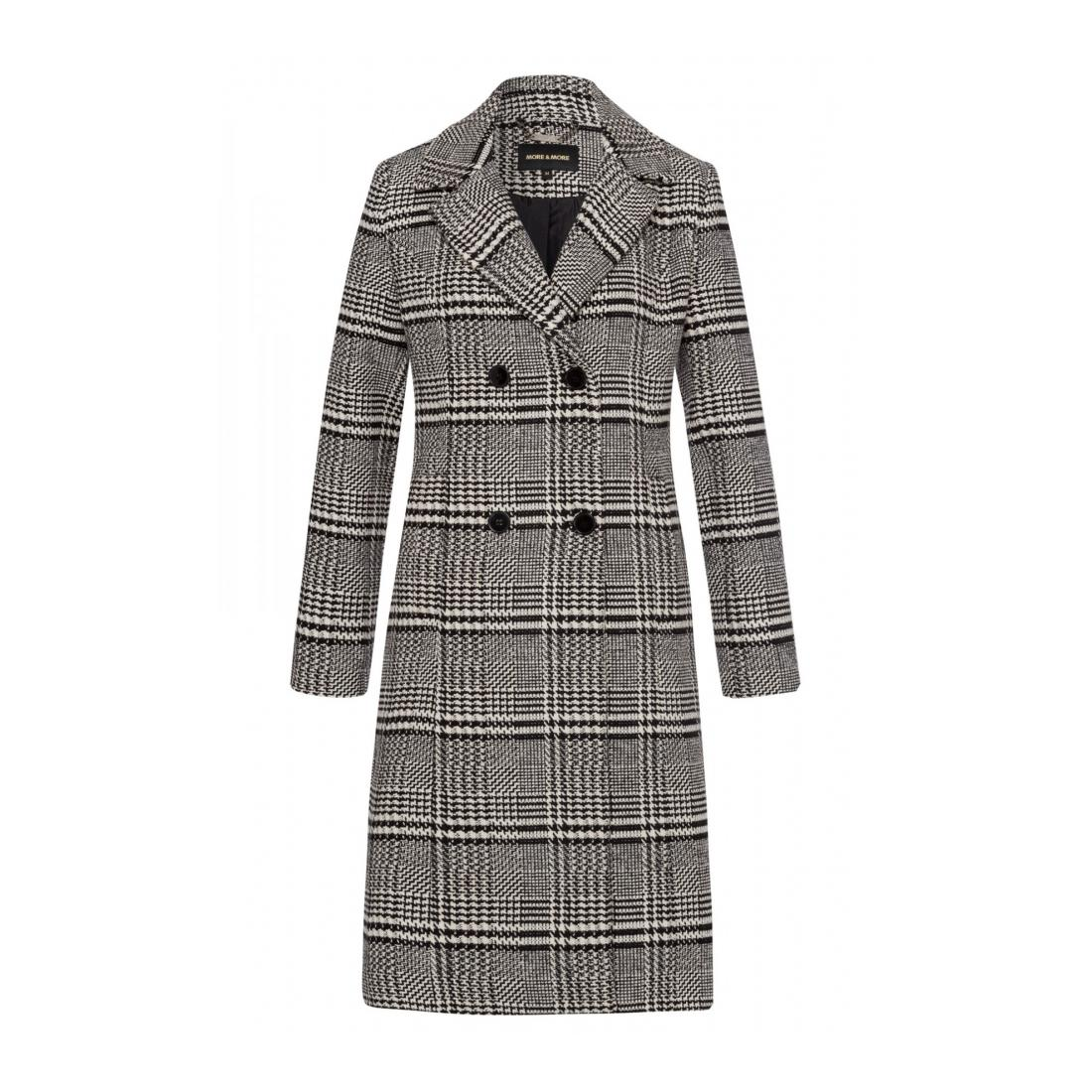 More & More Mantel Damen Glencheck Coat Active