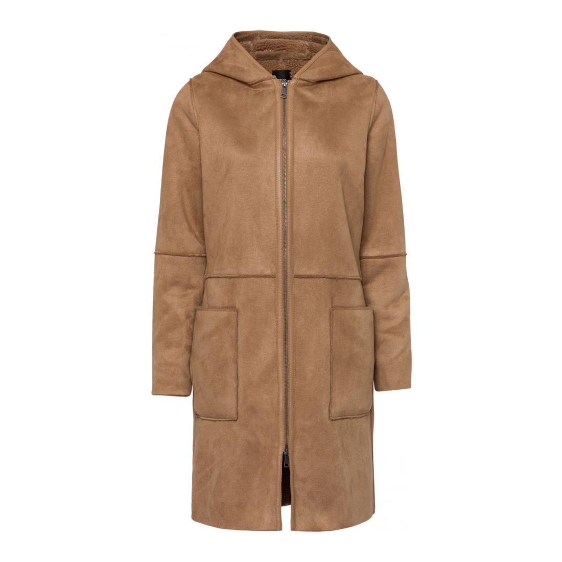 Zero Mantel Damen Fake Sheraling Coat, fron