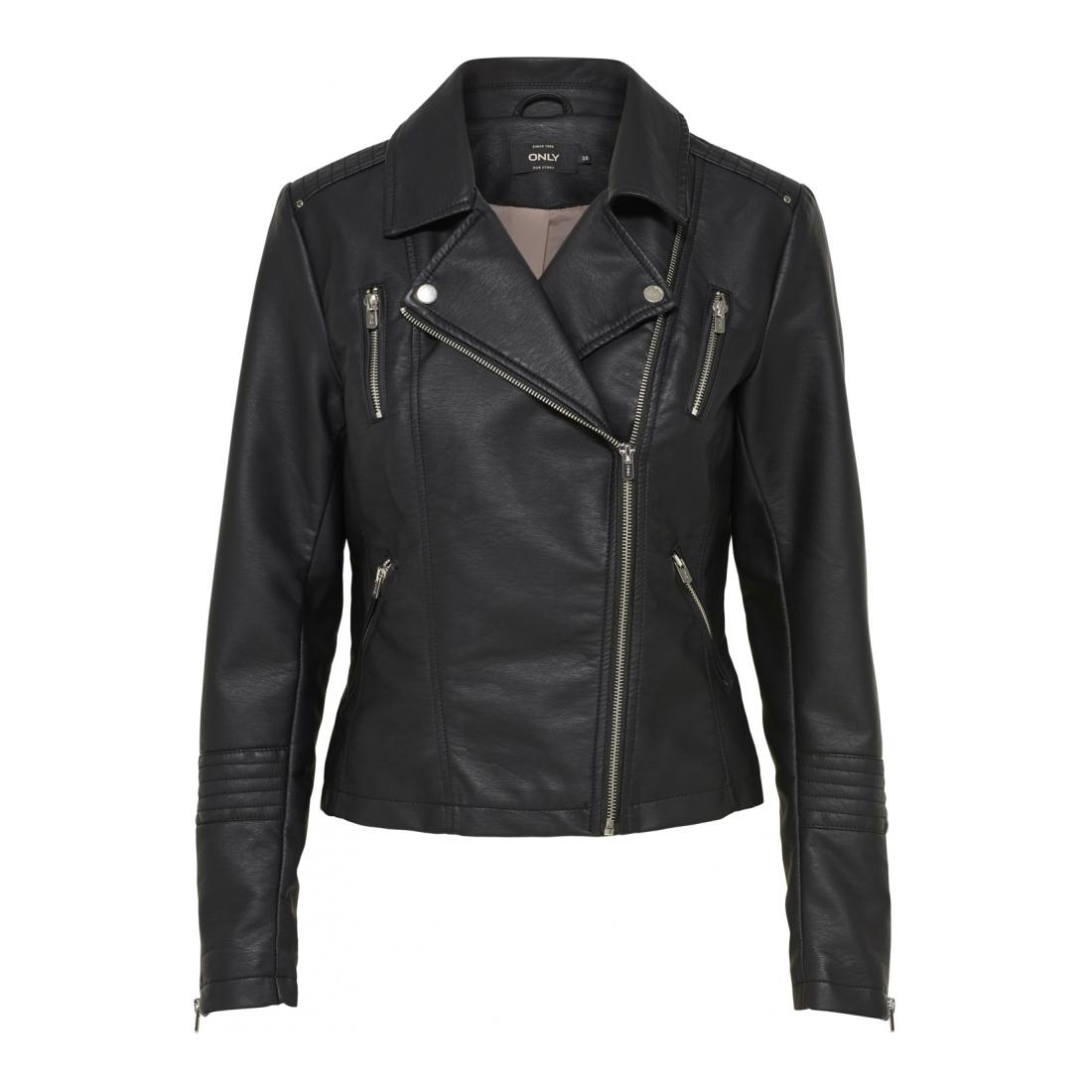 Only Jacke kurz Damen ONLGEMMA FAUX LEATHER BIK