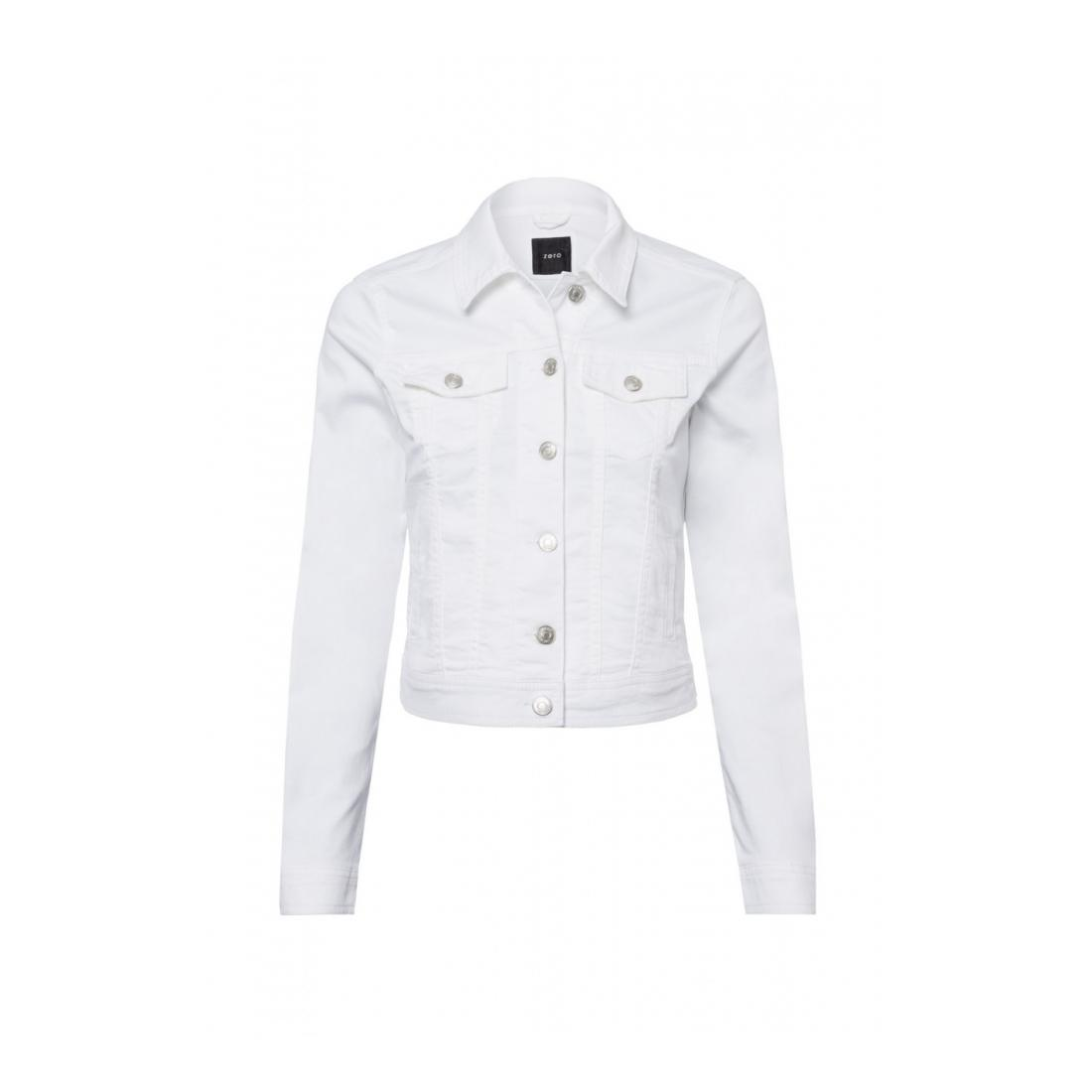 Zero Jacke kurz Damen Denim Jacket White