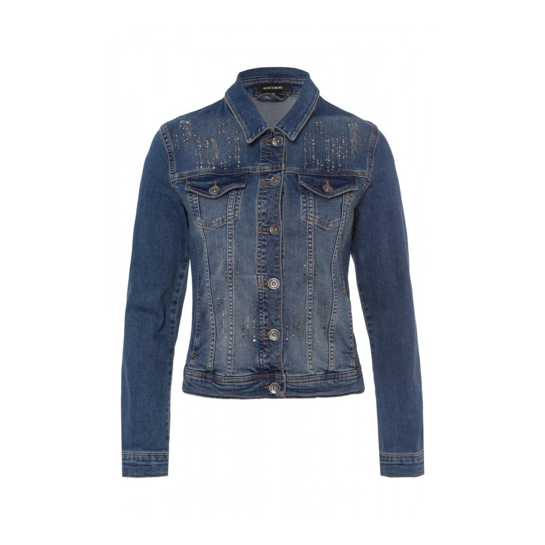 More & More Jacke kurz Damen Glamorous Denim Jacket Ac