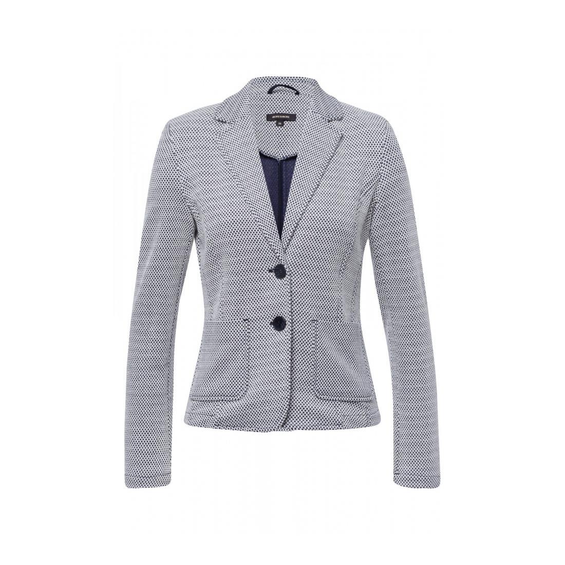 More & More Damen Blazer Hosenanzug Structure Jersey Blazer A