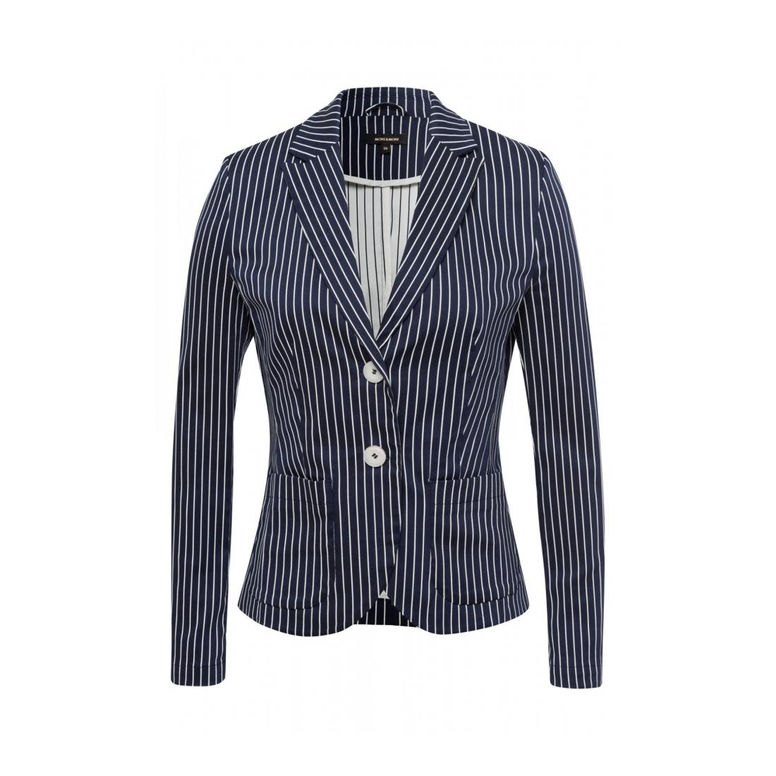 More & More Damen Blazer Hosenanzug Striped Double Blazer Act