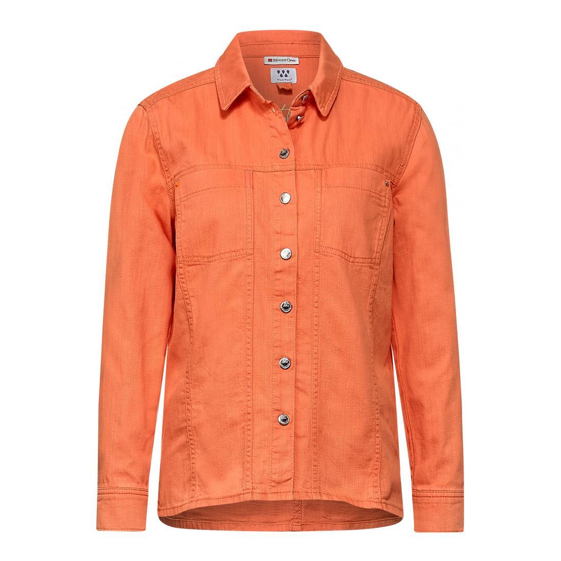 Street One Jacke kurz Damen Denim-Overshirt jacket co