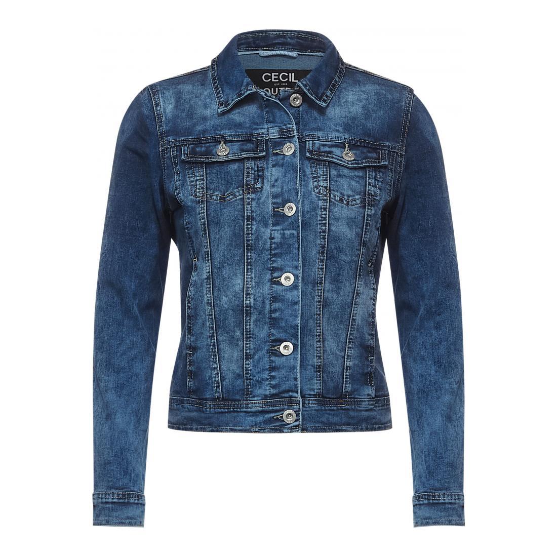 Cecil Jacke kurz Damen TOS Denim Jacket Mid Blue