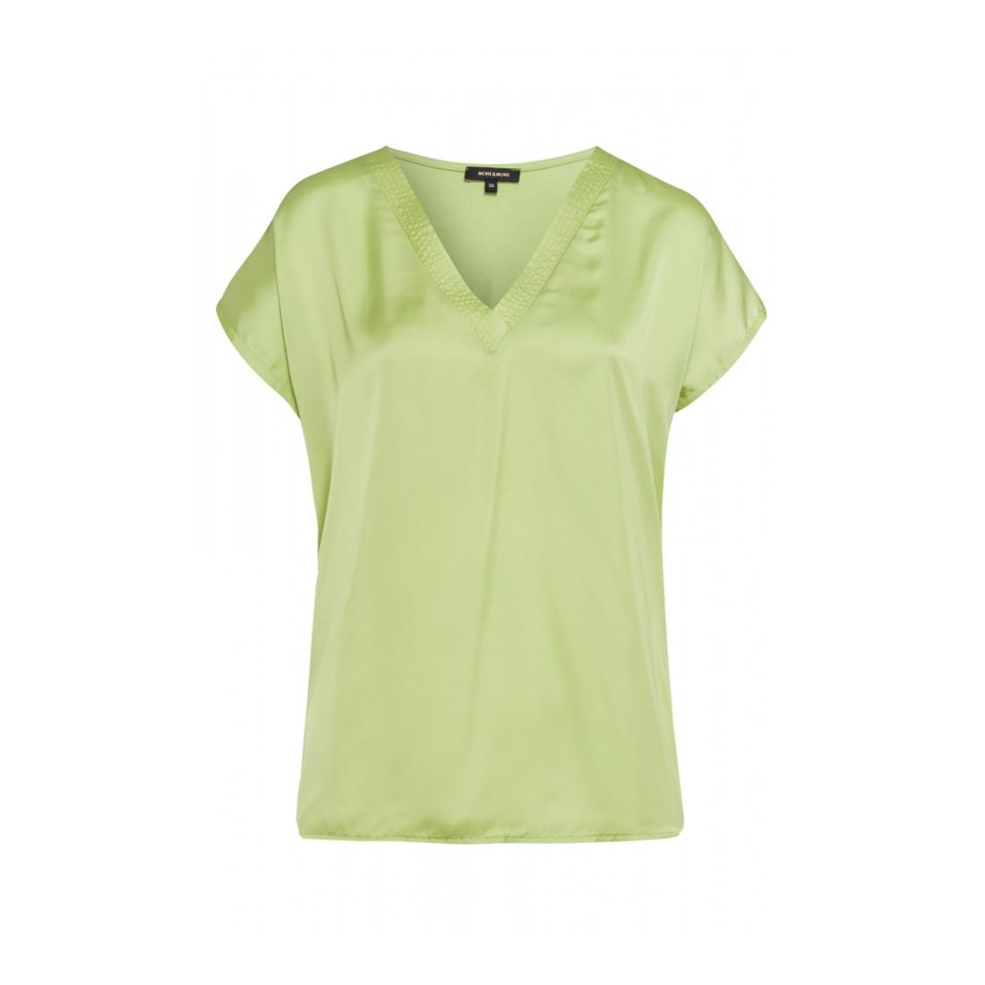 More & More Tops Damen Shirt with Satinfront and