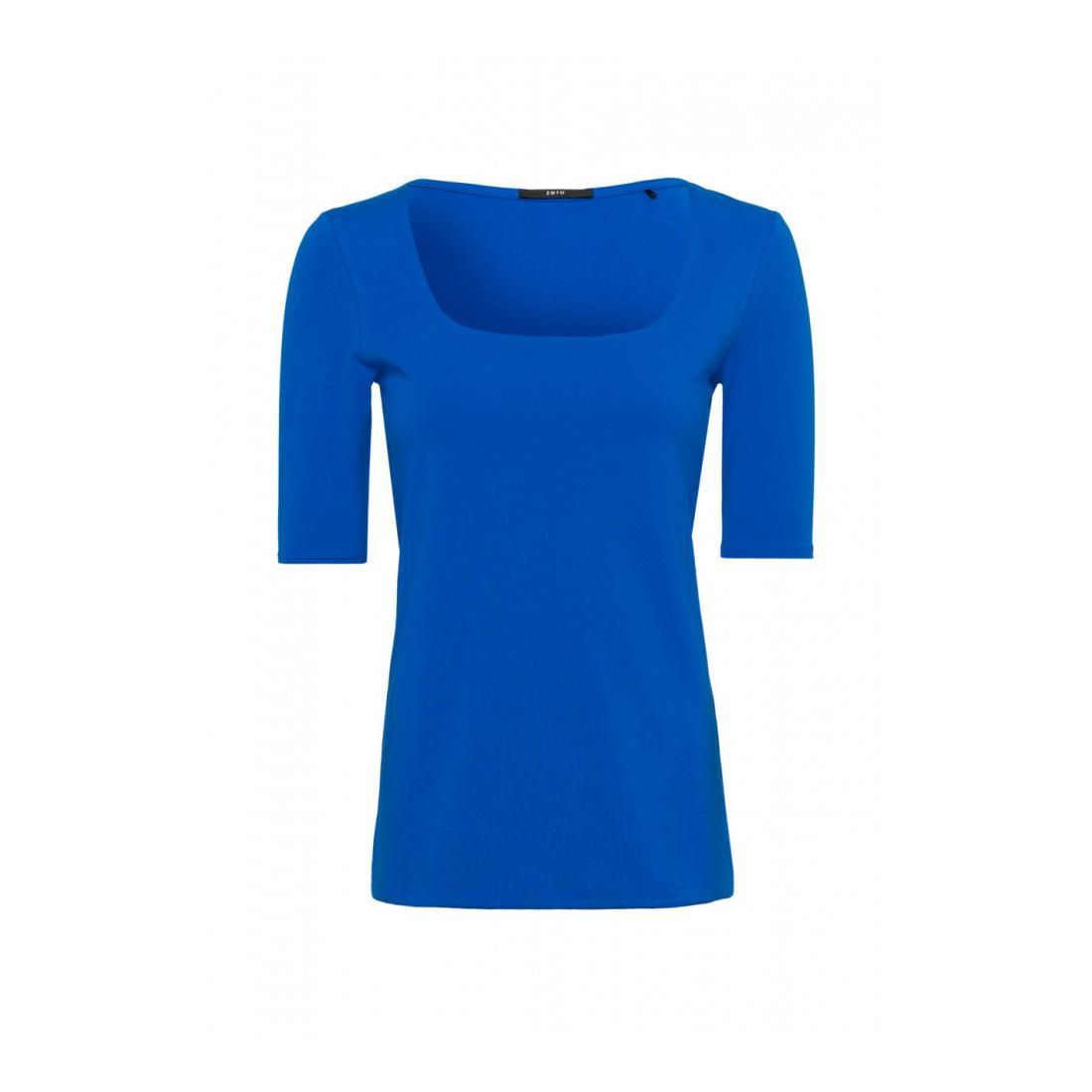 Zero T-Shirt Damen T-Shirt square neck doubl