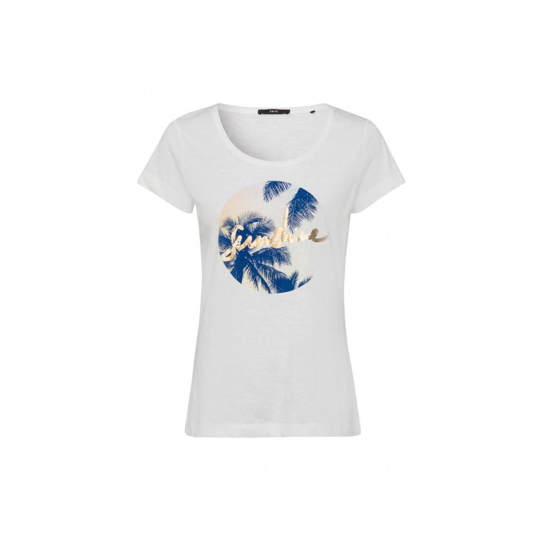 Zero T-Shirt Damen Tshirt Druck auf der Vord