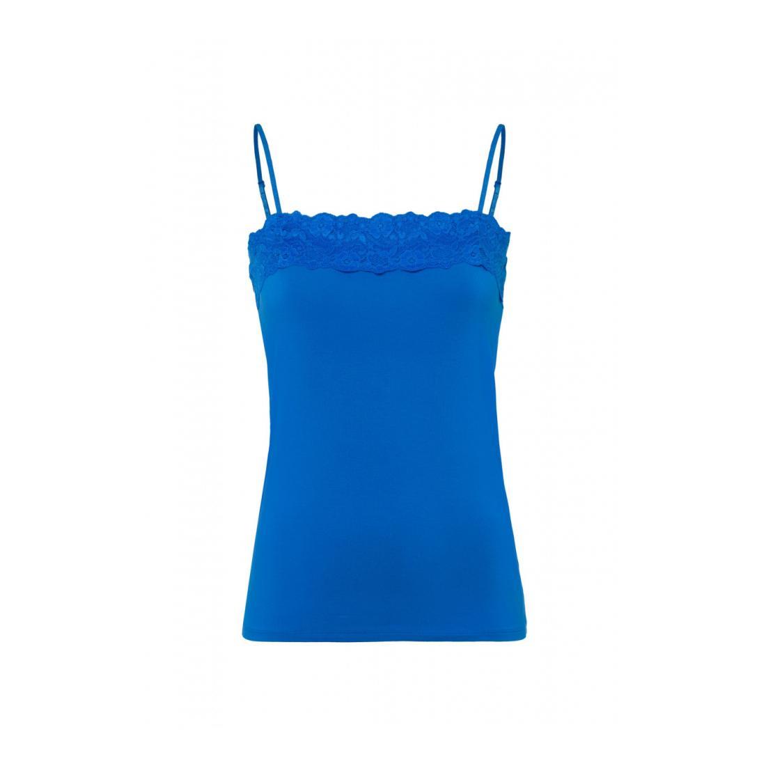 Zero Tops Damen T-Shirt Top Lace Trimming