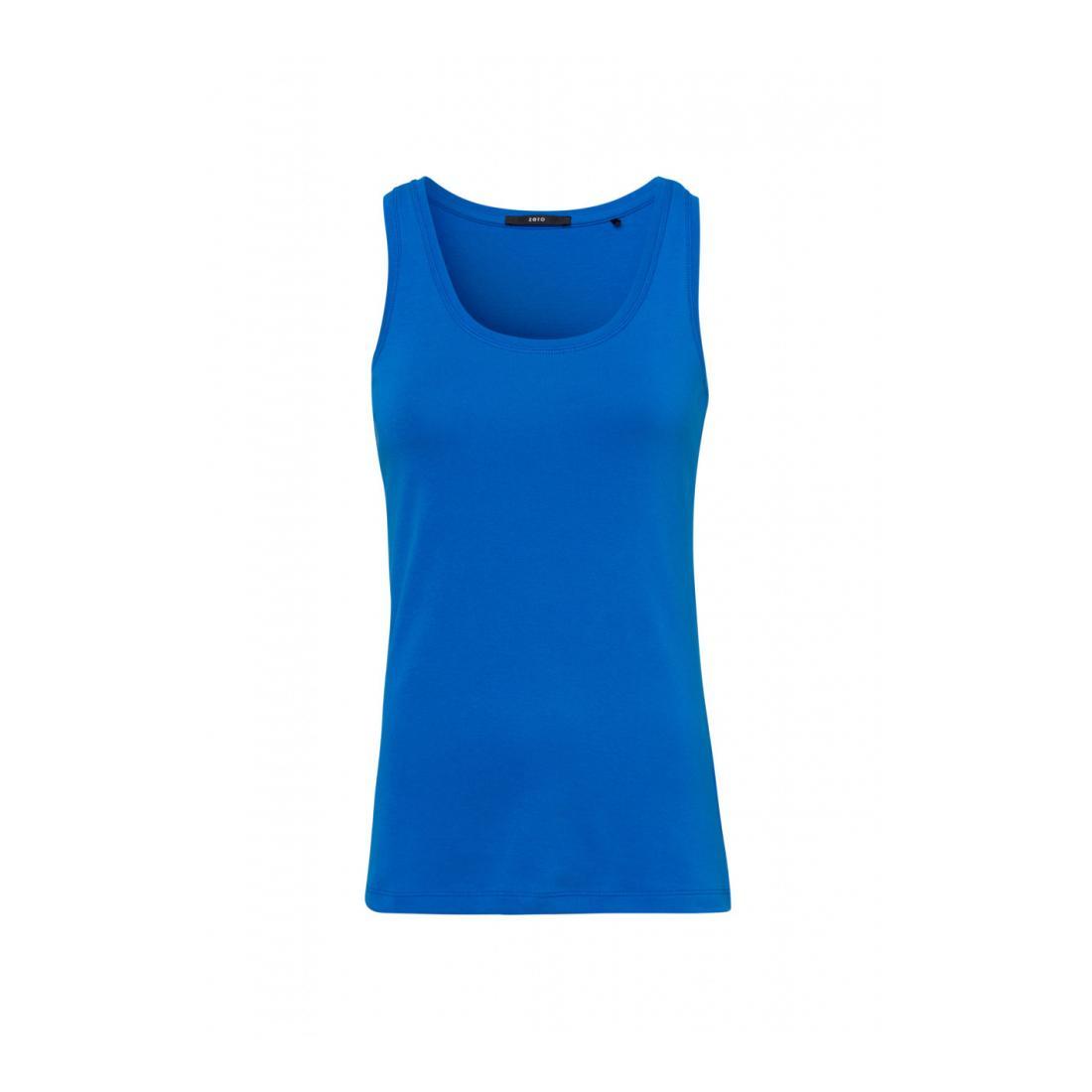 Zero Tops Damen T-Shirt top 1x1 rib pipin