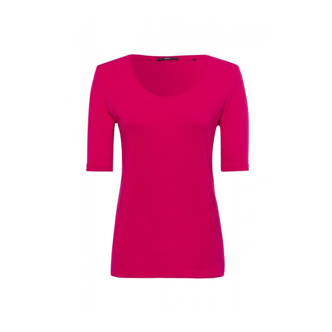 Zero T-Shirt Damen T-Shirt 1x1 rib Piping At