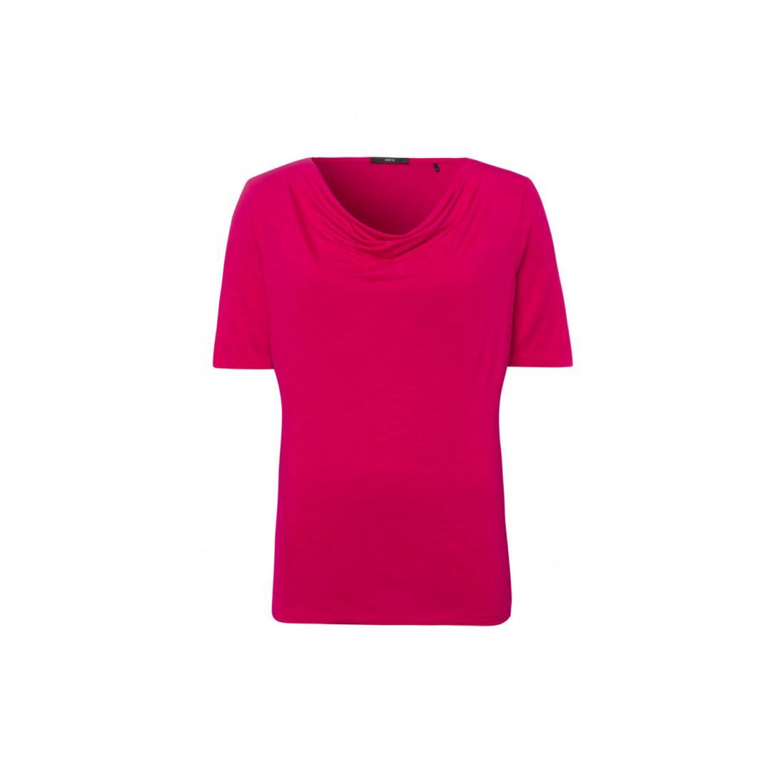 Zero T-Shirt Damen T-Shirt Waterfall Neck lo