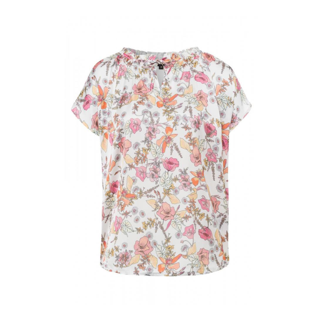 More & More T-Shirt Damen Shirt mit printed woven F