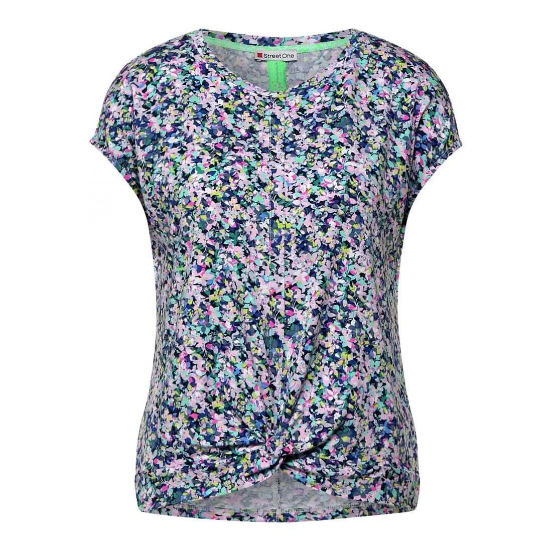 Street One T-Shirt Damen LTD QR printed shirt w.kn