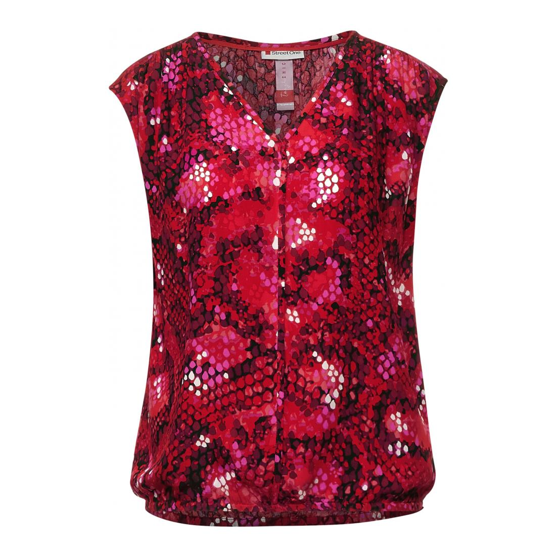 Street One Tops Damen LTD QR V-neck blouse w bi