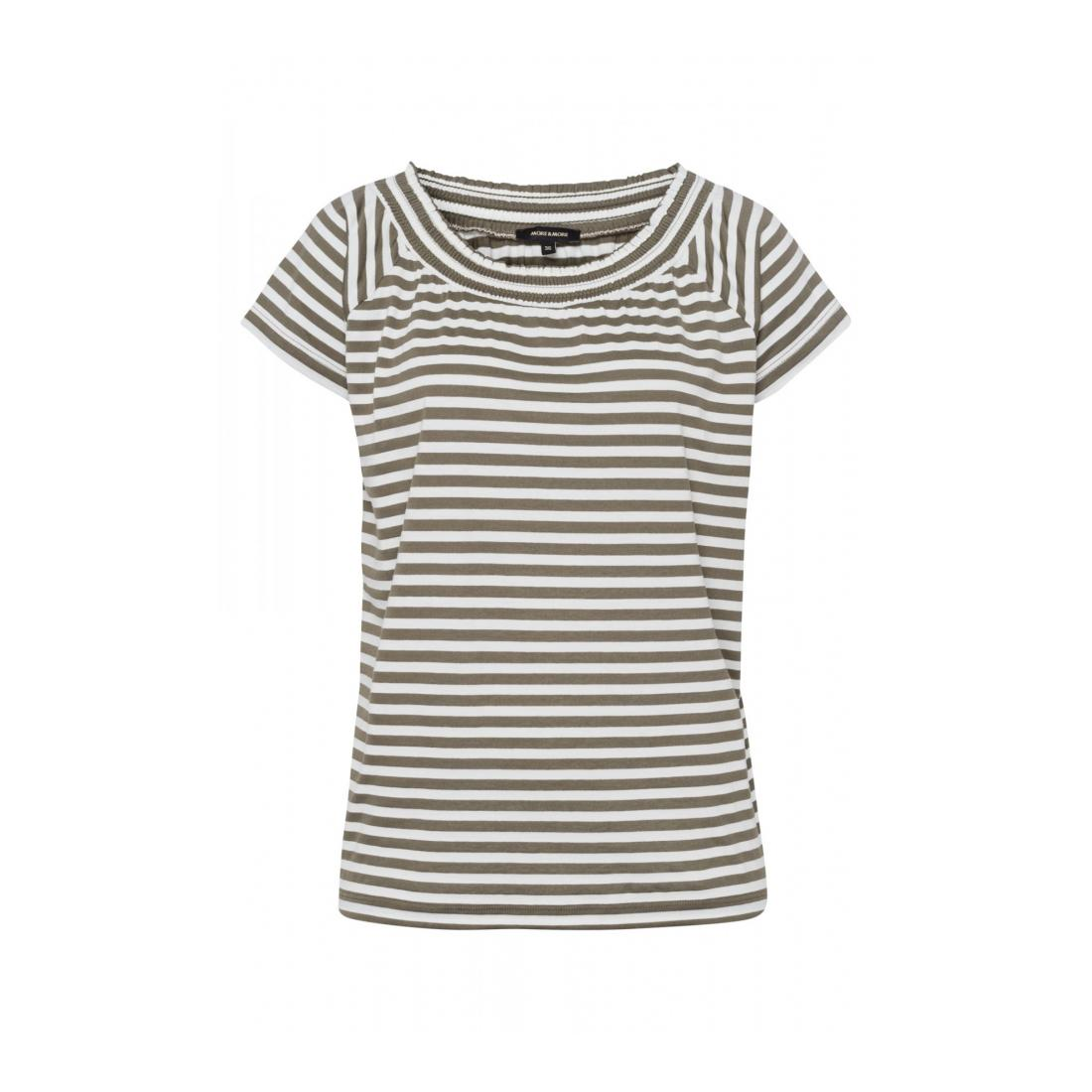 More & More T-Shirt Damen TShirt Carmen-Neckline st