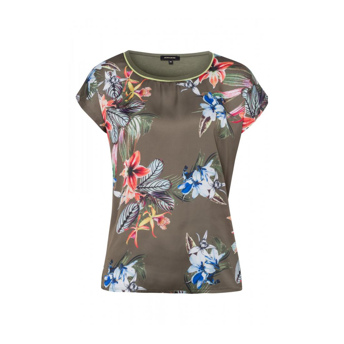 More & More T-Shirt Damen Patched Shirt with Placem