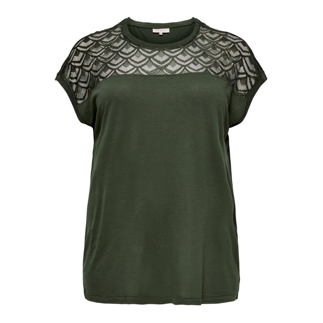 Only Carmakoma T-Shirt Damen CARFLAKE S/S MIX TOP NOOS