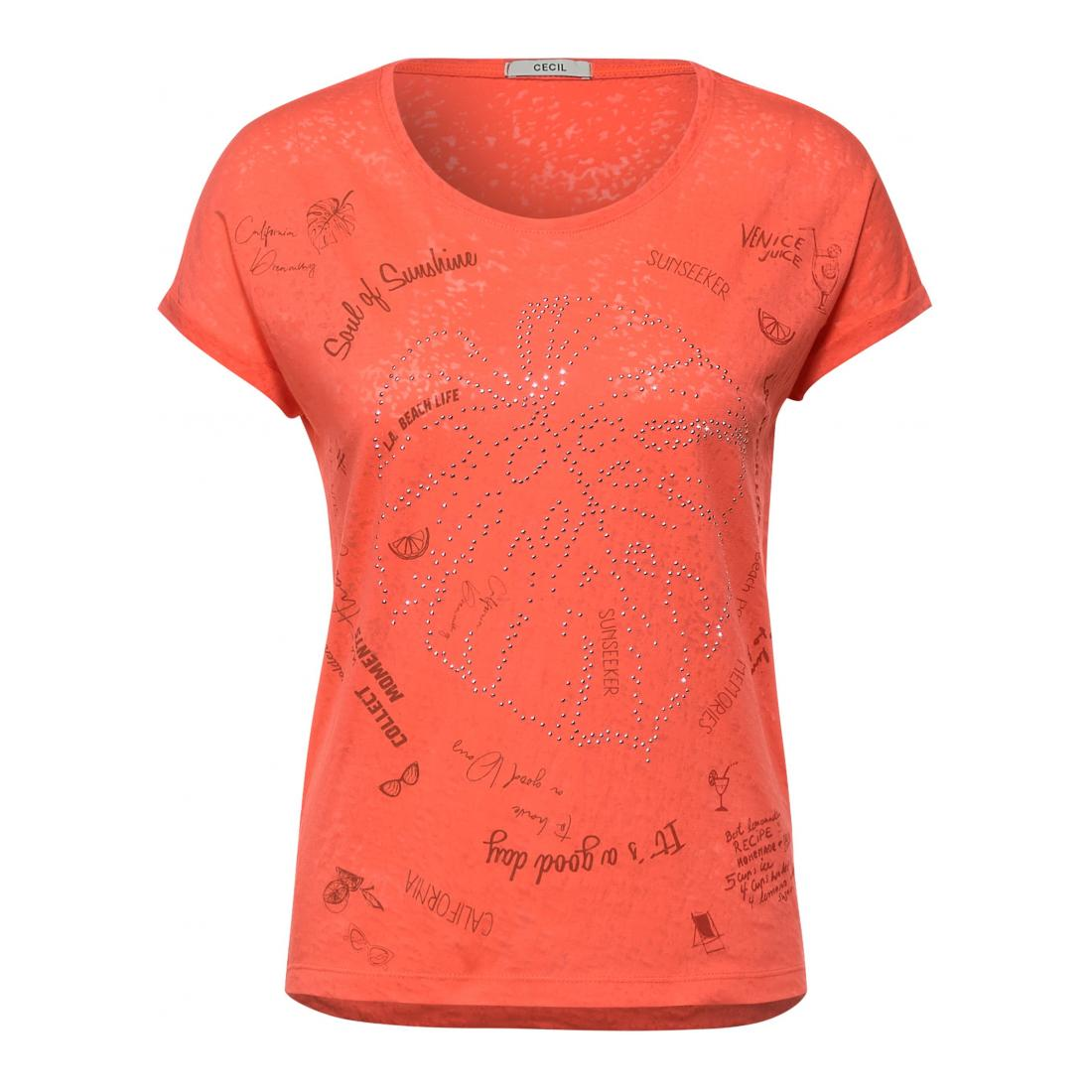 Cecil T-Shirt Damen TOS Mandala Burn Out
