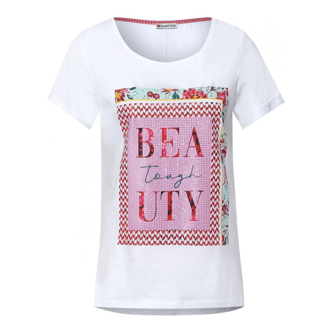 Street One T-Shirt Damen multicolor partprint shir