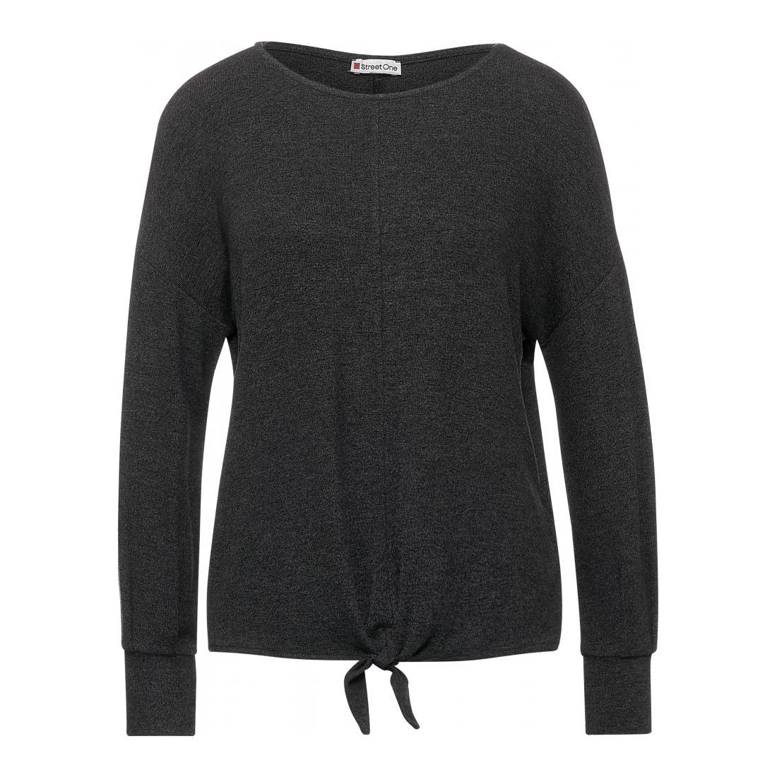 Street One Pullover Damen LTD QR soft shirt w.knot