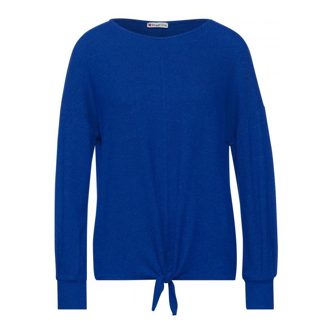 Street One Longsleeves Damen LTD QR soft shirt w.knot