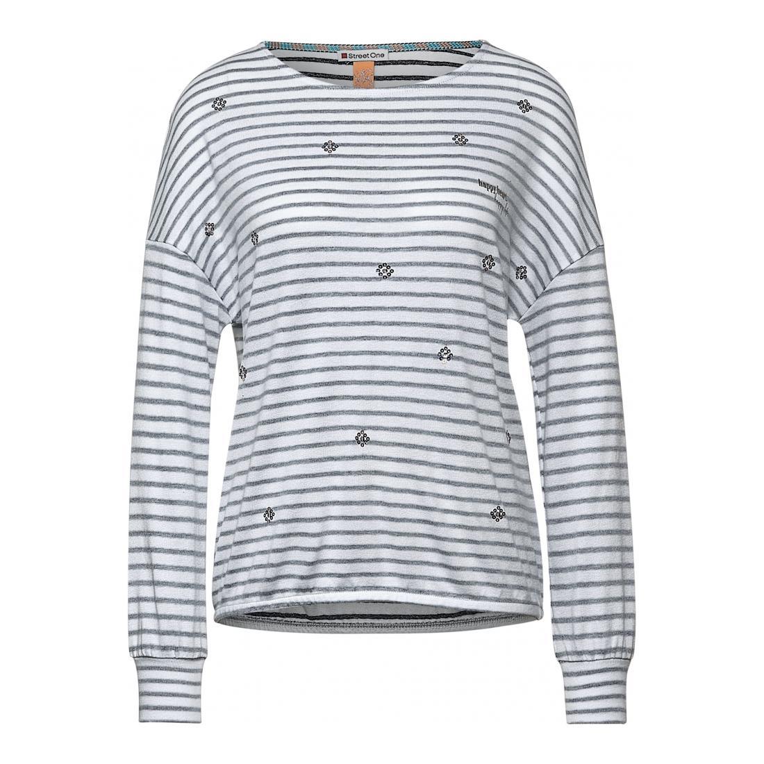 Street One Longsleeves Damen LTD QR stripe shirt w.seq