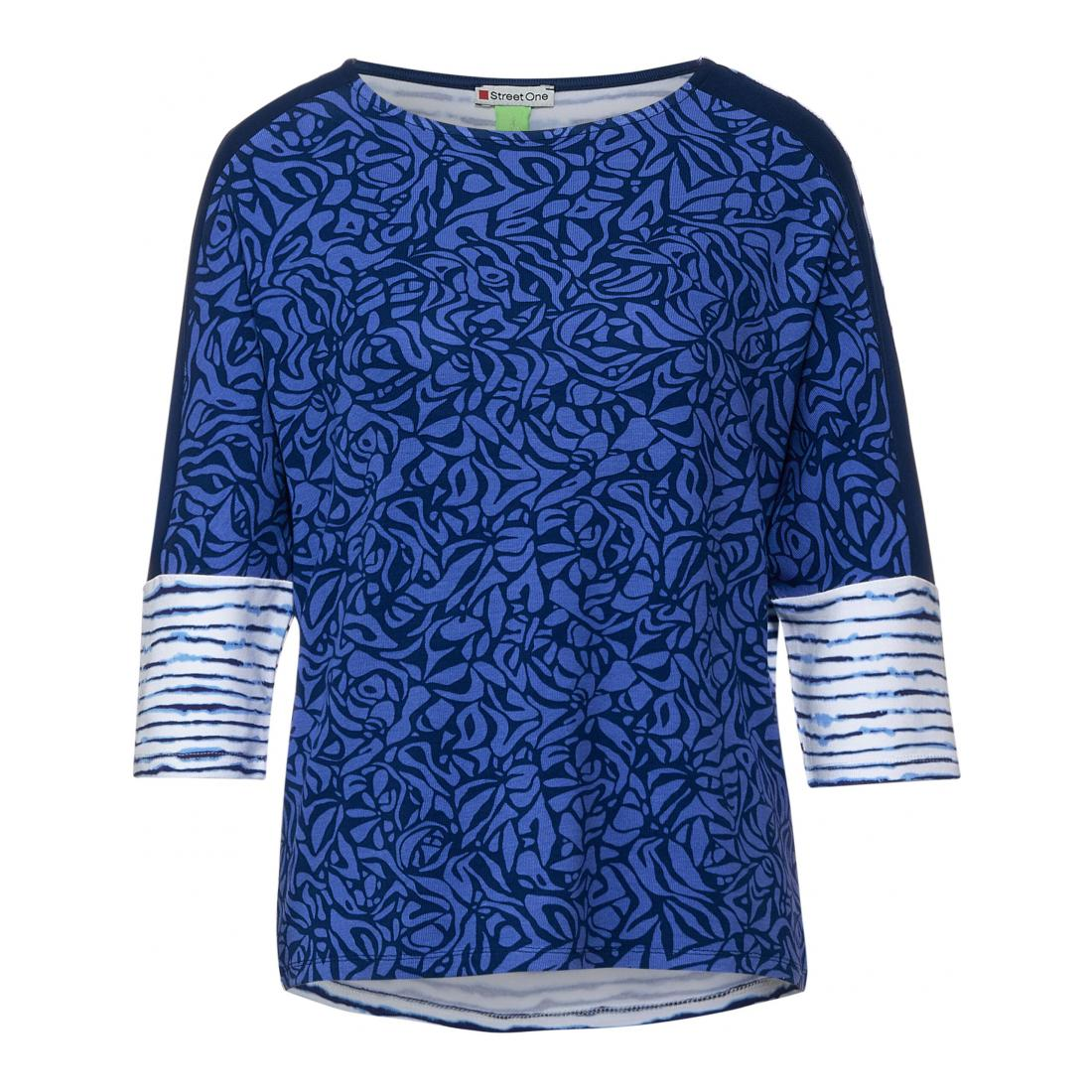 Street One Longsleeves Damen print mix shirt w.uni sho