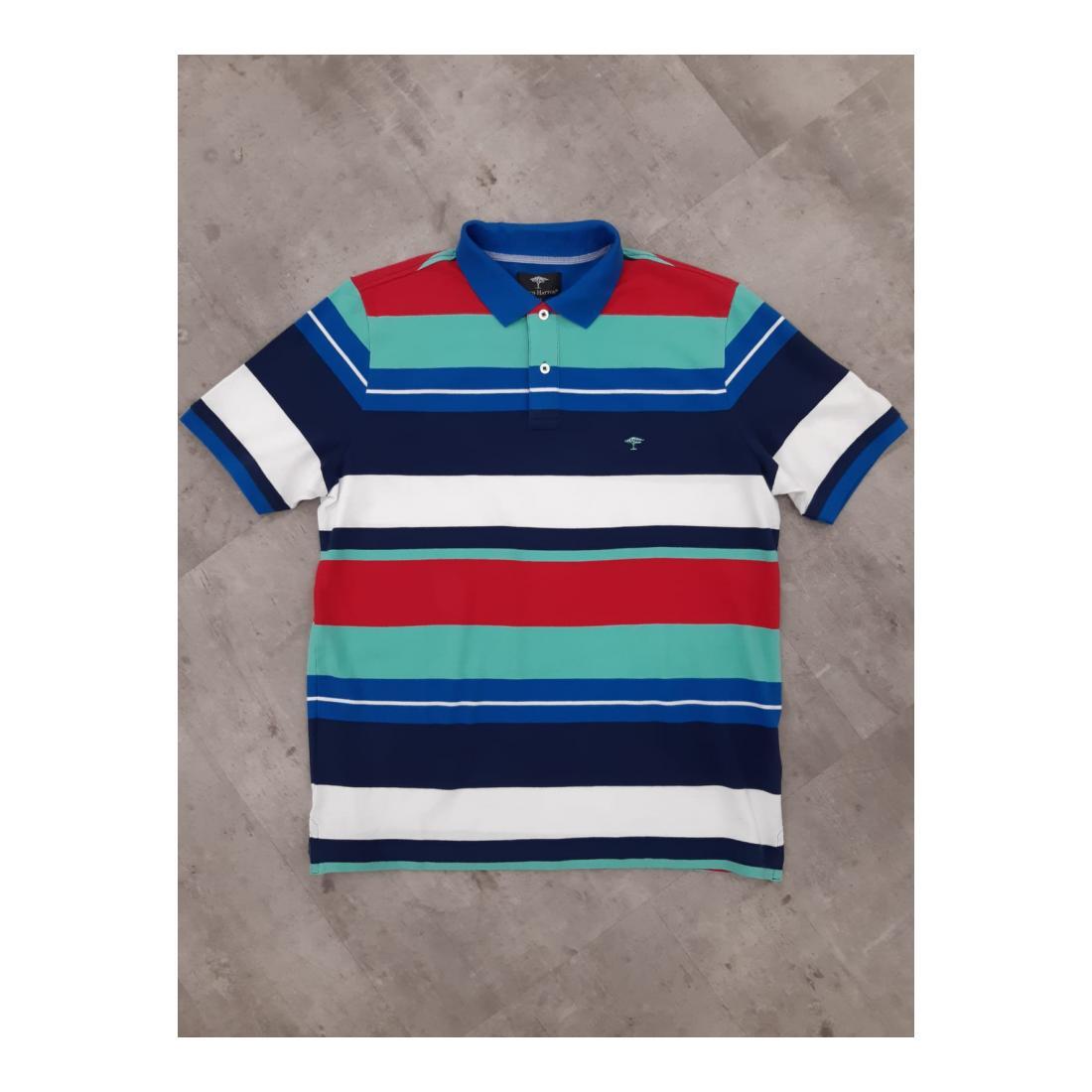 Fynch-Hatton Polo Herren Polo, Multicoloured Strip
